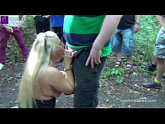 Public rest area Slut, is used dirty by 30 truckers and filled with sperm and piss! Chapter 3 (Attention! Extreme public sex)