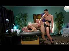 dominant masseuse lilith luxe gives face sitting to tied up client then anal fucks him