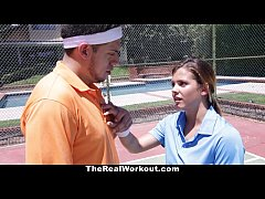 TheRealWorkout - Keisha Grey Pounded After Playing Tennis