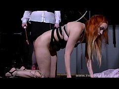 Dirty Marys lesbian bondage and electro bdsm of redhead slave in femdom dominate