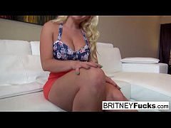 Blonde Bombshell Britney seduces a big cock in a pov scene