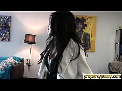 Asian real estate agent fucks her client during the showing