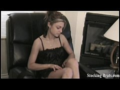 Watch me put my sexy black stockings on