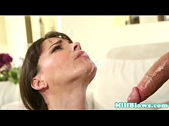 Smalltits milf gagging and gets a mouthful