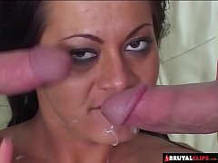 BrutalClips - Sandra Romain's Brutal Double Penetration