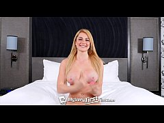 myveryfirsttime - skyla novea takes two dick for the first time in threesome