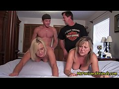 A TABOO Orgy with Mom's New Friend