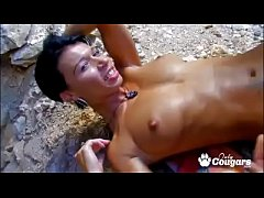 Mademoiselle Justine Has Her Butthole Pouned At The Beach