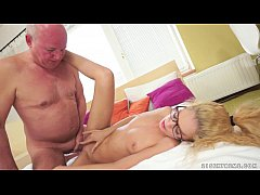 Horny Grandpa Pounded young babe Monique Woods