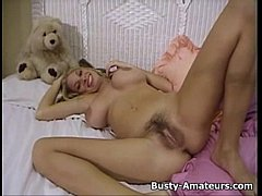 Blonde hottie Mary masturbate her hairy pussy