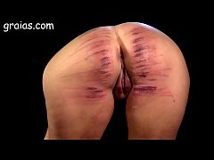 Girl ass brutally caned