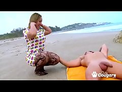 Thick & Chunky MILF Ashley Rider Jumps On Some Cock At The beach