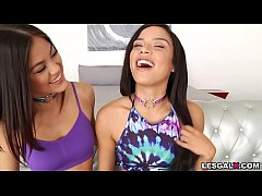 Watch these gorgeous teen lesbian bestfriends Maya Bijou and Kendra Spade do their first anal experience.