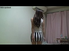 Peeping Naked Japanese Girl Madoka at Her Room
