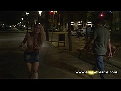 Flashing naked in public in Barcelona