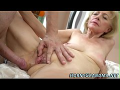 Sucking granny creampied