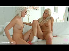 Lovita Fate and Daisy Lee in Blonde kisses lesbian scene by SapphiX