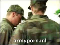 Army on duty office gangbang