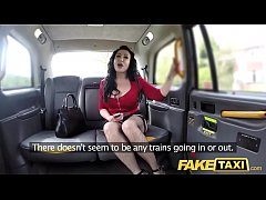 HD Fake Taxi Huge meaty pussy lips hang over and grip big drivers dick