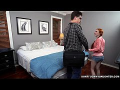 Cute Redhead Daughter sucks off Her tutor