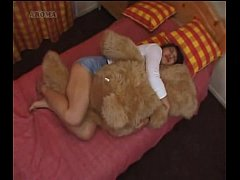 japanese girl humping a teddybear