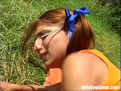 Outdoor Sex Blast With Nerdy Stepsister