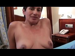 The hotel cleaning lady is a widow but she loves to get full of young cocks