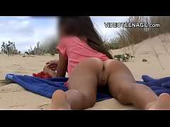 lovely teen at beach