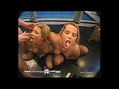 Two Blonde MILFS fucked and creamed Side by Side - German Goo Girls