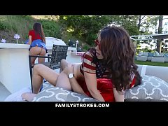 FamilyStrokes - Sexy Milf Joins Step-Son & Daughter In Threesome