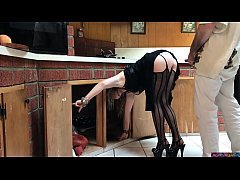MILF stuck in the kitchen fucked by neighbor (preview)