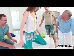 Doc assists with hymen physical and defloration of virgin cutie
