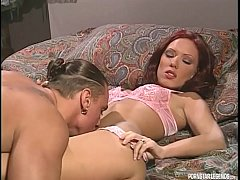 hard anal sex for sexy redhead chandler from girl s husband in classic porn