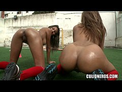 Nude Teens on soccer Field