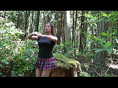 Cheerleader fucked in the woods - Erin Electra
