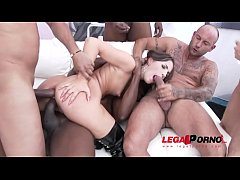 Sex addicted Kristy Black no holes barred fuck session with DP, DAP, DVP & Tripl