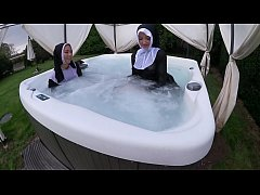 Fun Loving Nuns Get Wicked and Wet