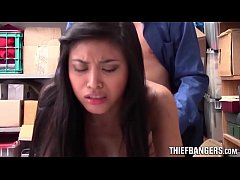 Asian Teen Ember Snow Caught Stealing & Fucked By LP Officer