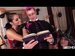 Simony Diamond & Lucy Belle Fuck a Priest & ruin his life.