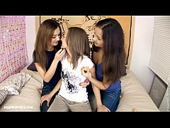 Excited Threeway by Sapphic Erotica - sensual lesbian sex scene with Lidia and M