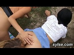 Milfs and Teens sharing outdoor orgies, threesome and public nudity
