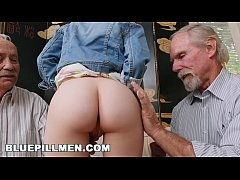 BLUE PILL MEN - Old Guys Frankie and Duke Play With Petite Redhead Dolly Little