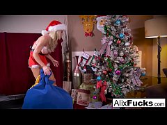 Christmas lesbian romp between two hot chicks