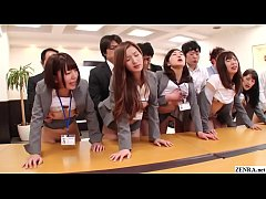JAV new hire insurances saleswomen huge synchronized office orgy Subtitled