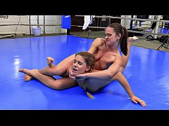 Sexy Catfight Breast Smother Headscissor Submission