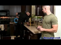 Gay jock banged closeup by a hunky plumber