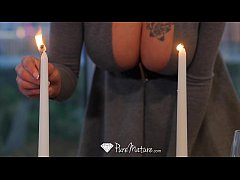 PureMature - Hot milf Peta Jensen candle lit dinner fuck