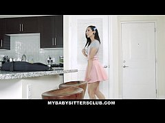 MyBabySittersClub - Teen BabySitter Fucked By Colossal Cock