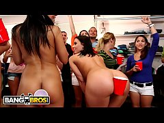 BANGBROS - Rachel Starr, Diamond Kitty, Luna Star, and Rachel Roxxx On Dorm Invasion