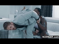 Black gay eating his married boss's ass - interracial gay sex